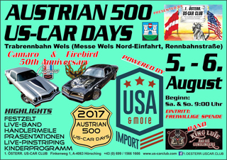 Austrian 500 US-Car Days 2017 Flyer
