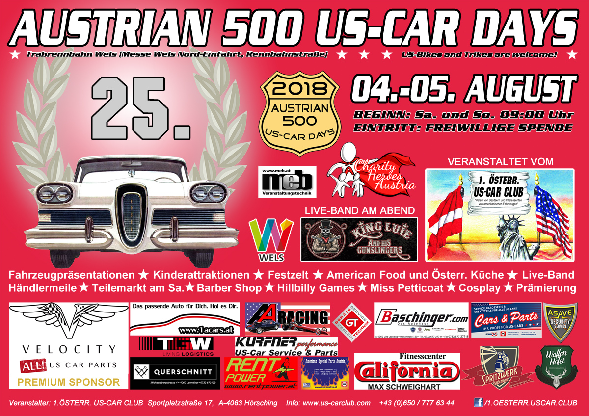 Austrian 500 US-CAR DAYS 2018 Flyer